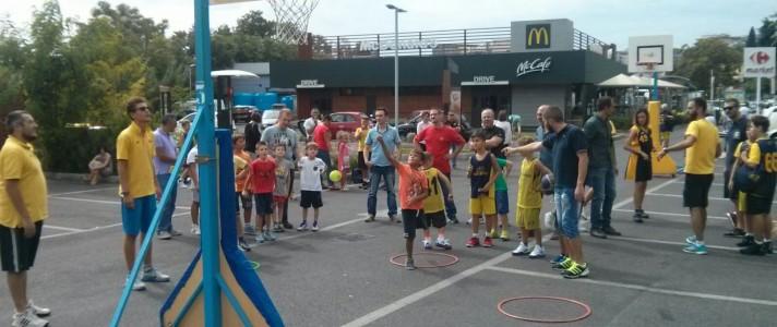 Un momento degli Open Day organizzati dalla Virtus Velletri per i più piccoli